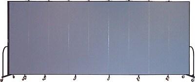 Screenflex Portable Furniture 88''Hx201''W Privacy Panel, Gray (CFSL749)