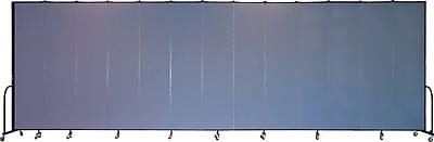 Screenflex Portable Furniture 96''Hx289''W Privacy Panel, Gray (CFSL8013)