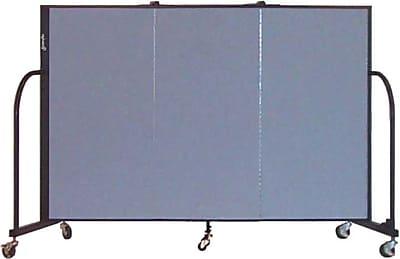 Screenflex Portable Furniture 48''Hx69''W Privacy Panel, Gray (CFSL403)