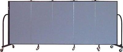 Screenflex Portable Furniture 48''Hx113''W Privacy Panel, Gray (CFSL405)