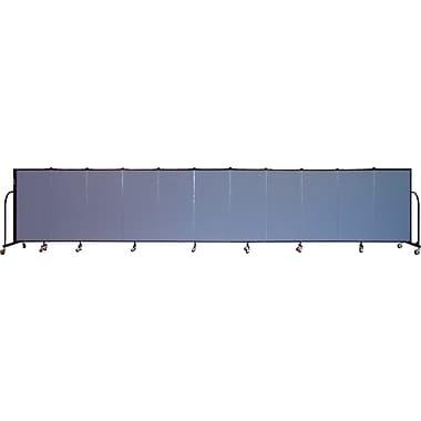 Screenflex Portable Furniture 48''Hx245''W Privacy Panel, Gray (CFSL4011)