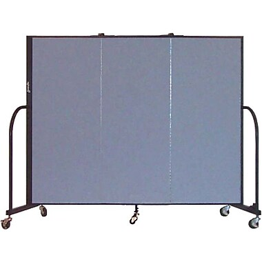 Screenflex Portable Furniture 60''Hx69''W Privacy Panel, Gray (CFSL503)