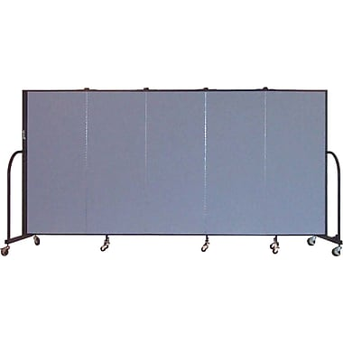 Screenflex Portable Furniture 60''Hx113''W Privacy Panel, Gray (CFSL505)