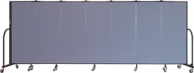 Screenflex Portable Furniture 60''Hx157''W Privacy Panel, Gray (CFSL507)