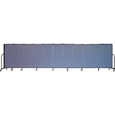 Screenflex Portable Furniture 60''Hx245''W Privacy Panel, Gray (CFSL5011)