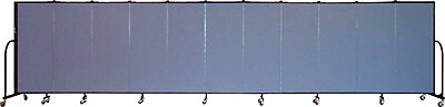 Screenflex Portable Furniture 60''Hx245''W Privacy Panel, Gray (CFSL5011)