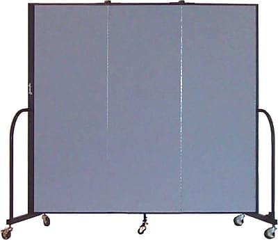 Screenflex Portable Furniture 72''Hx69''W Privacy Panel, Gray (CFSL603)
