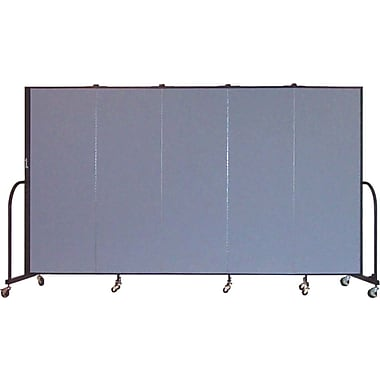 Screenflex Portable Furniture 72''Hx113''W Privacy Panel, Gray (CFSL605)