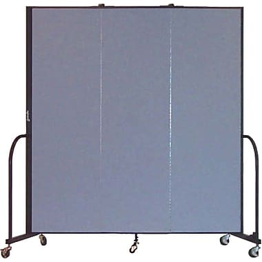 Screenflex Portable Furniture 80''Hx69''W Privacy Panel, Gray (CFSL683)
