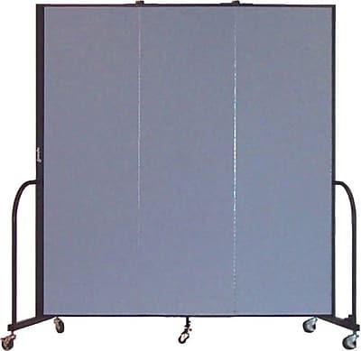 Screenflex Portable Furniture 80''Hx69''W Privacy Panel, Gray (CFSL683)