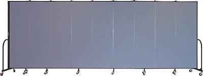 Screenflex Portable Furniture 80''Hx201''W Privacy Panel, Gray (CFSL689)
