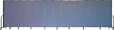 Screenflex Portable Furniture 80''Hx289''W Privacy Panel, Gray (CFSL6813)