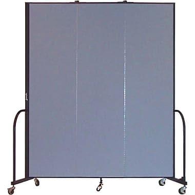 Screenflex Portable Furniture 88''Hx69''W Privacy Panel, Gray (CFSL743)