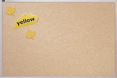 Quartet® Vinyl Tack Bulletin Board, White Vinyl with Silver Aluminum Frame, 4' x 4'