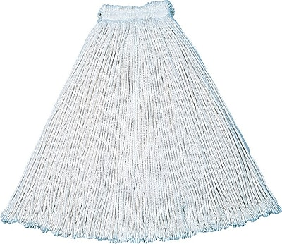 Cut-End Cotton Mop #32, Economy, White, 12/Ct