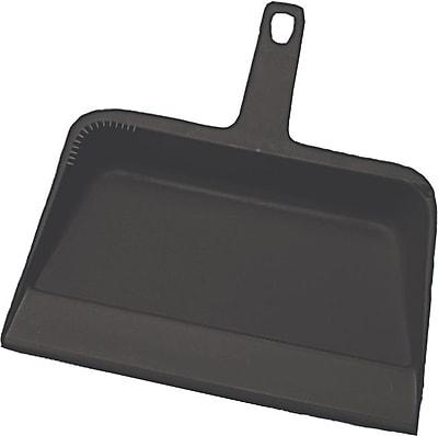 Impact Handheld Dustpan, Plastic, Black, 12