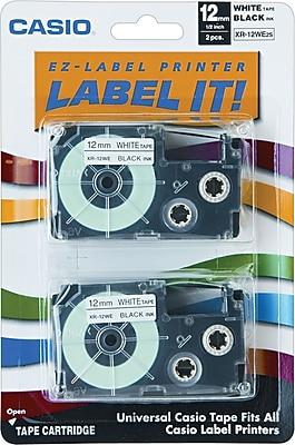 Casio® Laminated Label Tape Cassette, 1/2