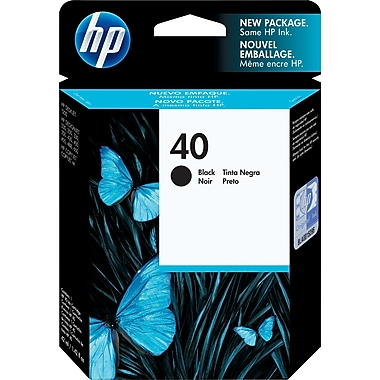 HP 40 Black Original Ink Cartridge (51640A)