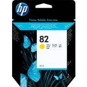 HP - Cartouche d'encre jaune 82 (C4913A)