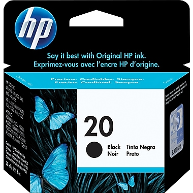 HP 20 Black Original Ink Cartridge (C6614D)