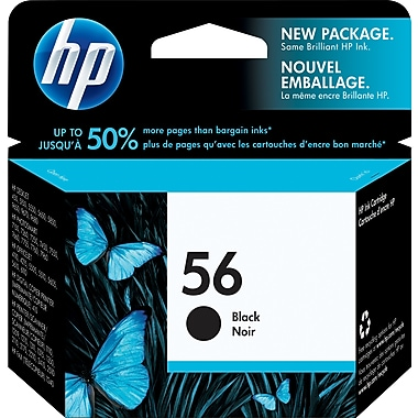 HP 56 Black Original Ink Cartridge (C6656AN)
