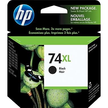 HP 74XL Cartouche d'encre noire à rendement élevé d'origine (CB336WN)