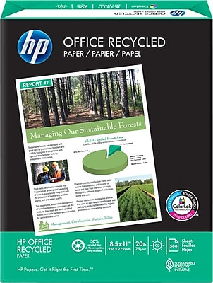 HP Office 30% Recycled Paper, 8 1/2