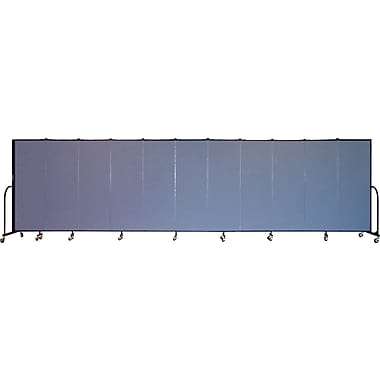 Screenflex Portable Furniture 72''Hx245''W Privacy Panel, Gray (CFSL6011)