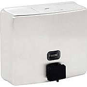"""Bobrick Contura™ Surface-Mounted Soap Dispenser, Stainless Steel, 40 oz., 7""""H x 3 5/16""""W x 6 1/8""""D"""