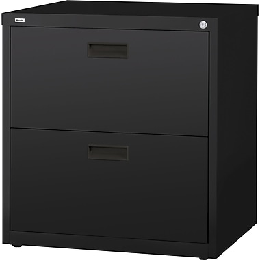 Hirsh 1000 Series Lateral File Cabinet, 2-Drawer, Black