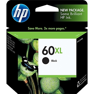 HP 60XL Black High Yield Original Ink Cartridge (CC641WN)