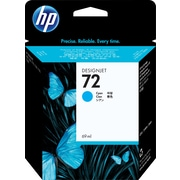 HP C9398A 72 Ink Cartridge, Cyan, 69mL