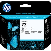 HP C9380A 72 Printhead, Grey/Photo Black