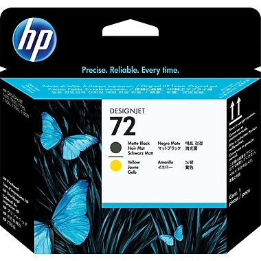 HP C9384A 72 Printhead, Matte Black/Yellow