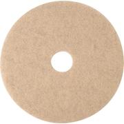 "3M Burnishing Pad, Natural Blend Tan Pad 3500, 20"", 5/Ct"