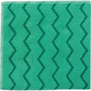 Rubbermaid HYGEN™ Microfiber All-Purpose Cleaning Wiping Cloths, Green, 16