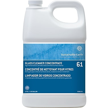 Sustainable Earth by Staples® Glass Cleaner Concentrate #61, 1 gal.