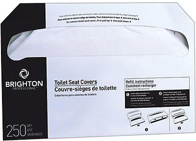 Brighton Professional Half-Folded Toilet Seat Covers, 2,500/case (BPR24776)