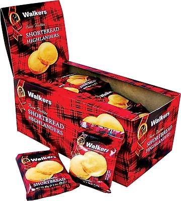 Walkers® Shortbread Highlander Cookies, 1.4 oz. Bags, 24 Bags/Box