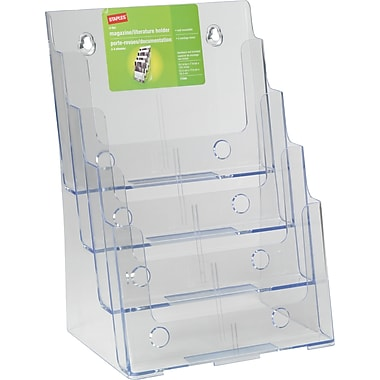 Staples® 4-Tier Magazine Size Literature Holder