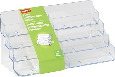 Staples Business Card Holder 8 Compartments Staples
