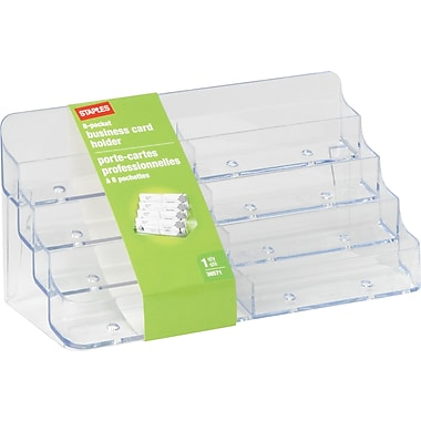 Staples® - Porte-cartes professionnelles, 8 compartiments