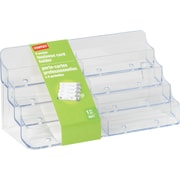 Staples® Business Card Holder, 8 Compartments