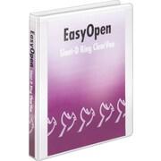 Cardinal Easy Open ClearVue 1-Inch Slant D 3-Ring Binder, White (10300)