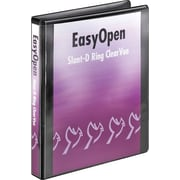 """Cardinal 1"""" Easy Open ClearVue Binders with Locking D-Rings, Black"""