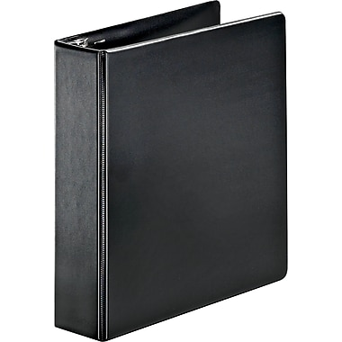 Cardinal SuperStrength Black 2-Inch Slant D 3-Ring Binder, Black (11532)