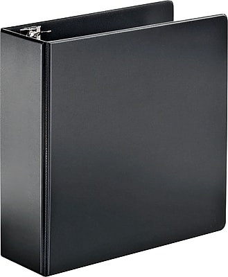 Cardinal SuperStrength 4-Inch Slant D 3-Ring Non-View Binder, Black (11832)