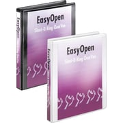 "Cardinal 1"" Easy Open ClearVue Binders with Locking D-Rings, Black"