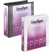 "Cardinal 3"" Easy Open ClearVue Binder with Locking D-Rings, Black"