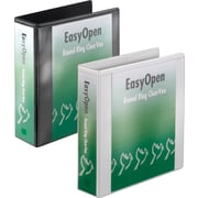 Cardinal Easy Open ClearVue 2-Inch Round 3-Ring Binder, White (11120)